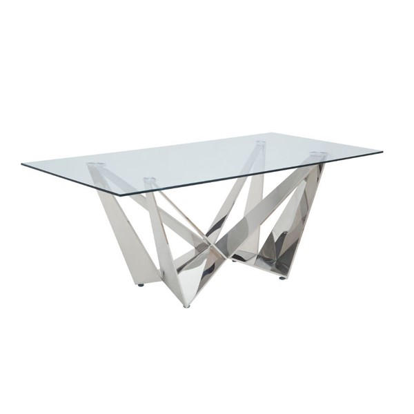 Acme Furniture Dekel Clear Glass Dining Table ACM-70140