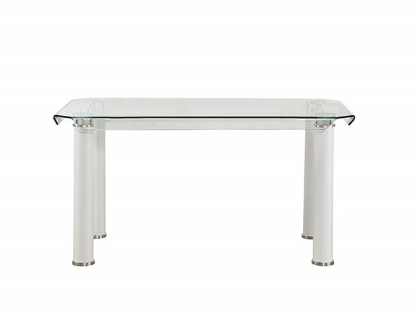 Acme Furniture Gordie White Clear Dining Table ACM-70260