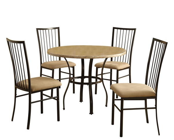 Acme Furniture Darell White 5pc Dining Room Set ACM-70295