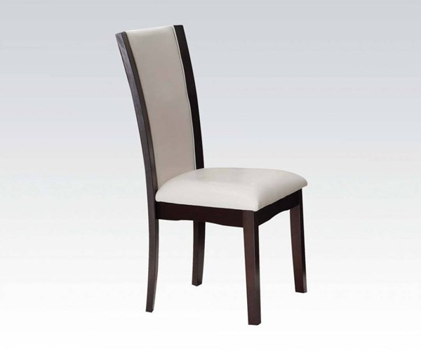 Malik White Espresso PU Side Chairs ACM-7050-DCH-VAR