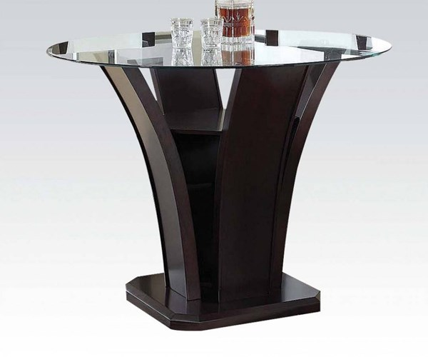Malik Espresso Wood Glass Counter Height Table ACM-70510