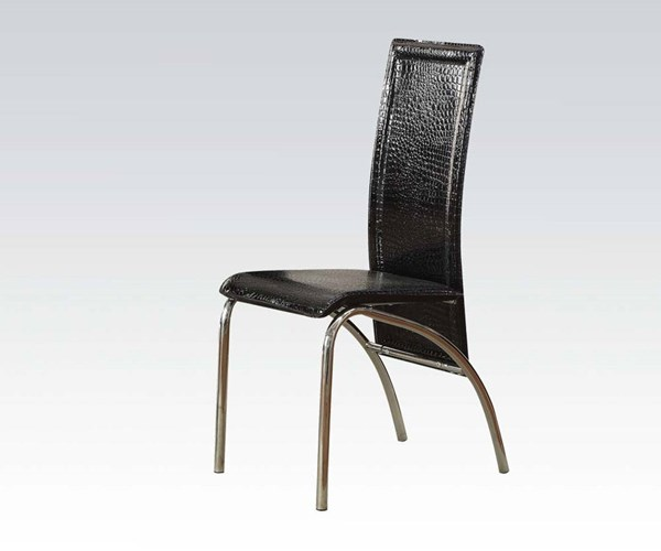 2 Toffy Casual Black Metal PU Side Chairs ACM-70724