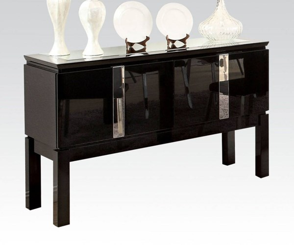 Prisca Casual Black Wood High Gloss Server ACM-70989
