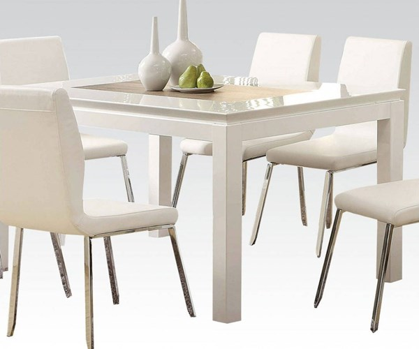 Kilee White Wood Dining Table ACM-70990A