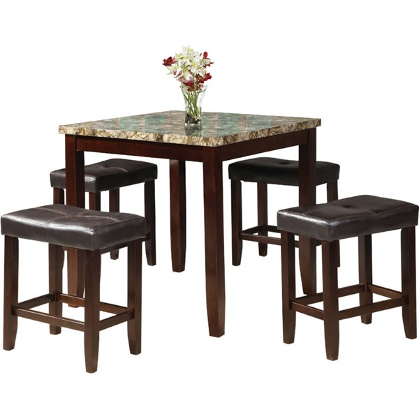 Acme Furniture Rolle Espresso 5pc Counter Height Set ACM-71090