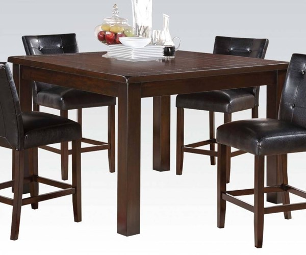 Easton Cherry Brown Wood Counter Height Table ACM-71145A