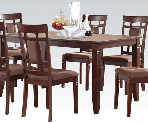 Sonata Casual Cherry Wood Rectangle Dining Table ACM-71160