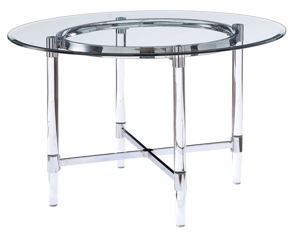Acme Furniture Daire Clear Glass Dining Table ACM-71180