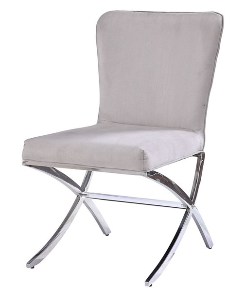 2 Acme Furniture Daire Chrome Side Chairs ACM-71182