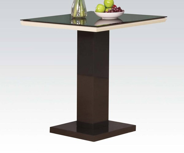 Norwin Black White Wood Glass Counter Height Table ACM-71310