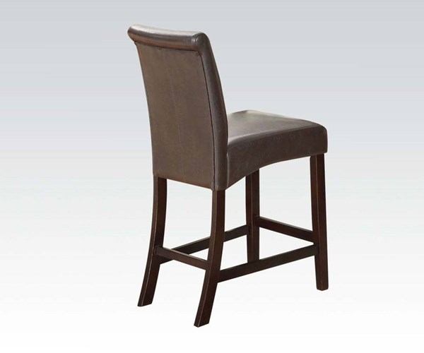 2 Ripley Espresso Wood PU Counter Height Chairs ACM-71374