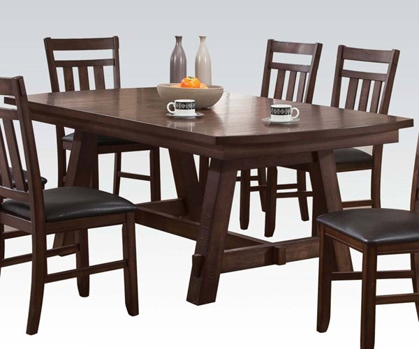 Acme Furniture Luciano Dark Walnut Dining Table ACM-71430