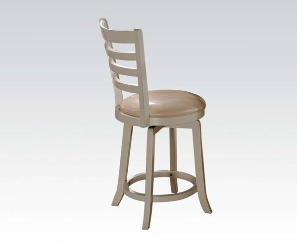 2 Wilton Cream Wood PU Counter Height Chairs ACM-71442