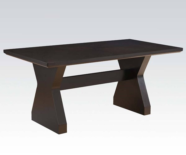 Effie Contemporary Espresso Wood Dining Table ACM-71515