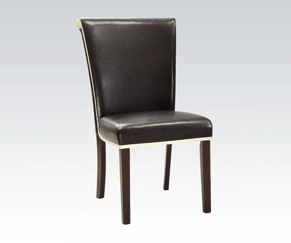 Jafar Casual Ivory Red Mustard Wood PU Side Chairs ACM-71532-CH-VAR
