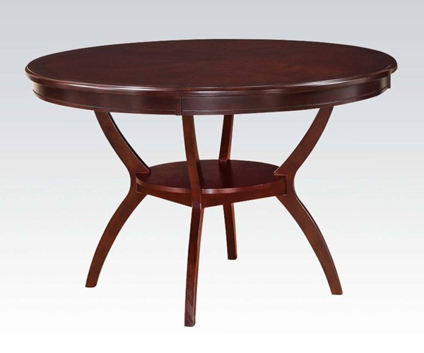 Oswell Casual Cherry Wood Round Dining Table ACM-71600