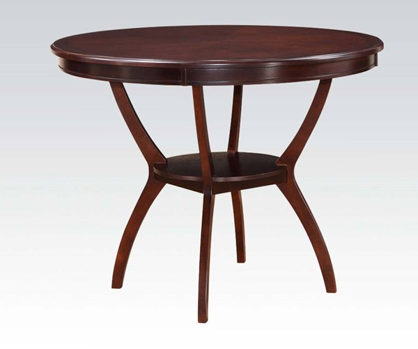 Oswell Cherry Wood Round Counter Height Table ACM-71605