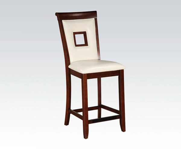 2 Oswell Cherry Wood PU Counter Height Chairs ACM-71607
