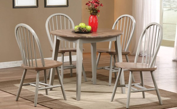 Margret Casual Brown Oak Gray Wood Dining Room Set ACM-71635-37-DR