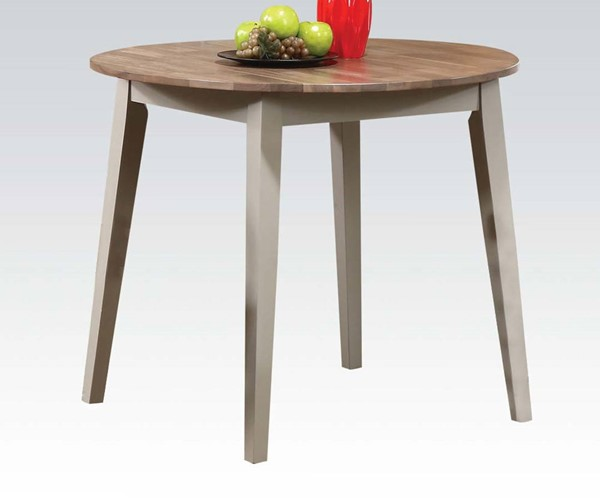 Margret Casual Brown Oak Gray Wood Dining Table ACM-71635