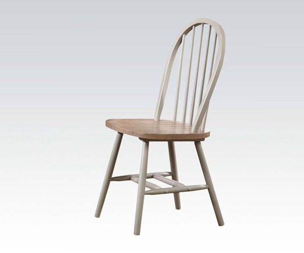 4 Margret Casual Brown Oak Gray Wood Side Chairs ACM-71637