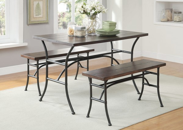 Acme Furniture Domingo Walnut Black 3pc Dining Room Set ACM-71665
