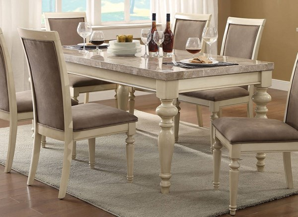 Acme Furniture Ryder Antique White Dining Table ACM-71705