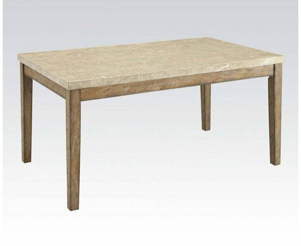 Acme Furniture Claudia White Brown Dining Table ACM-71715