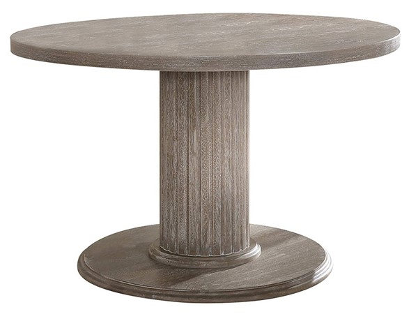 Acme Furniture Gabrian Reclaimed Gray Single Pedestal Dining Table ACM-71725