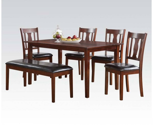 Acme Furniture Jayden Brown Cherry 6pc Dining Set ACM-71735