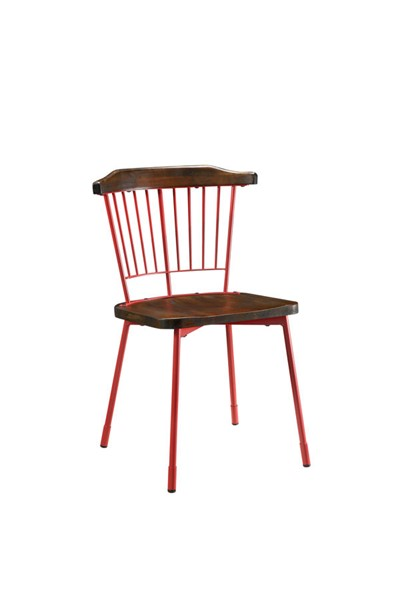 2 Acme Furniture Orien Red Side Chairs ACM-71796