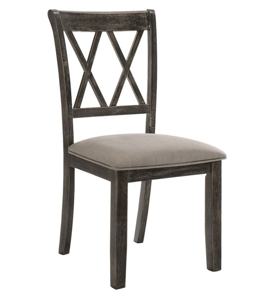 2 Acme Furniture Claudia II Weathered Gray Side Chairs ACM-71882