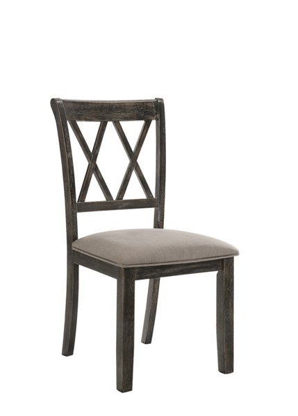2 Acme Furniture Jaffer Weathered Gray Side Chairs ACM-71882