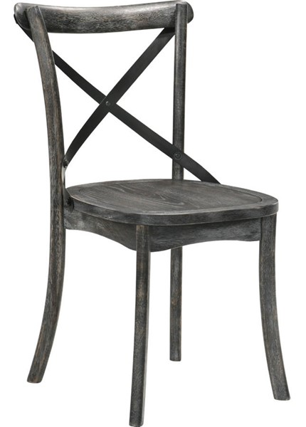 2 Acme Furniture Kendric Rustic Gray Side Chairs ACM-71897