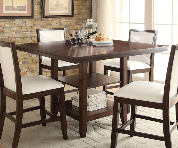 Eastfall Espresso Wood Counter Height Table ACM-71915