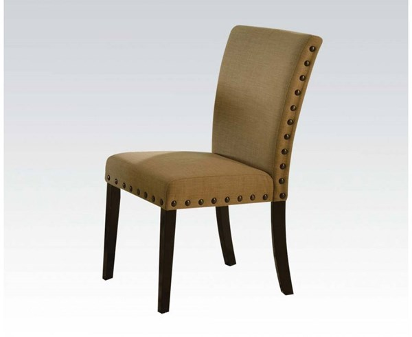 2 Byton Black Fabric Wood Padded Seat & Back Side Chairs ACM-71932
