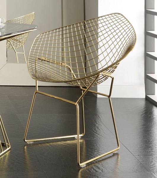 Rianne Traditional Gold Metal Chair ACM-71969