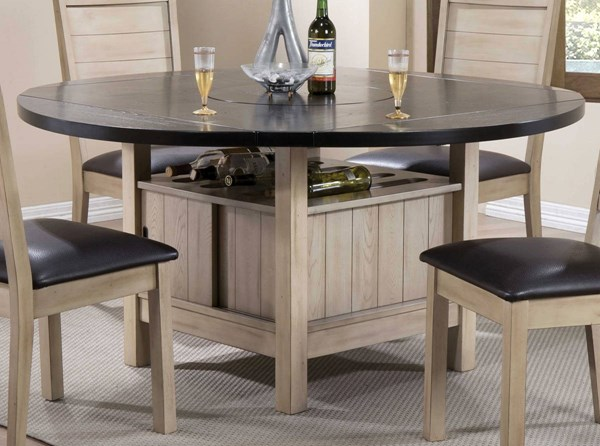Ramona Modern Dark Walnut Antique Beige Dining Table ACM-72005