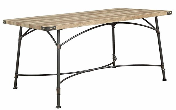 Acme Furniture Itzel Antique Oak Sandy Gray Dining Table ACM-72080