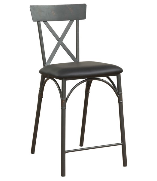 2 Acme Furniture Itzel Sandy Gray Counter Height Chairs ACM-72087