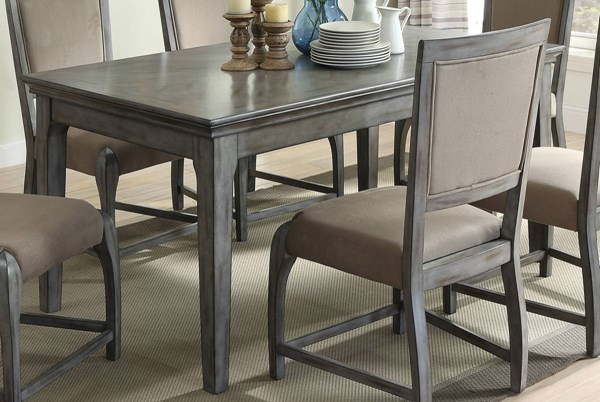 Freira Antique Gray Rubberwood MDF Dining Table  Kitchen Dining