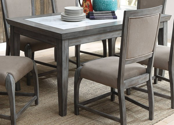 Freira Antique Gray Marble Rubberwood MDF Dining Table ACM-72115