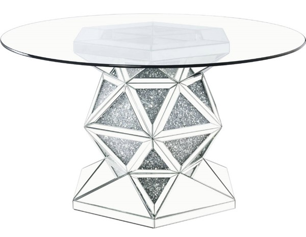 Acme Furniture Noralie Clear Glass Round Dining Table ACM-72145