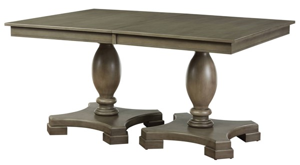 Acme Furniture Waylon Gray Wood Double Pedestal Dining Table ACM-72200