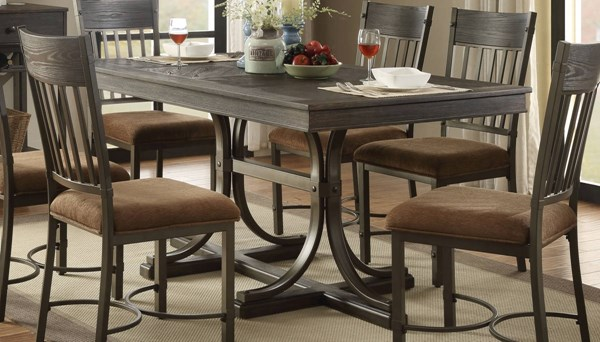 Acme Furniture Kipp Antique Black Rectangle Dining Table ACM-72240