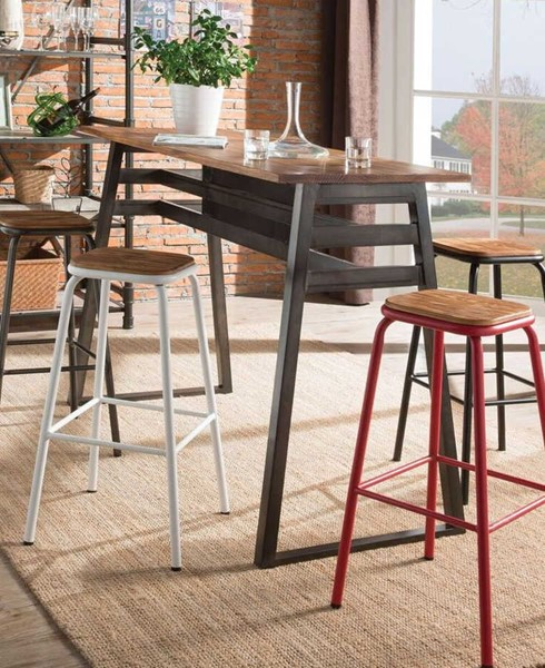 Acme Furniture Scarus Red 5pc Bar Set ACM-7238-BAR-S3
