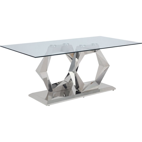 Acme Furniture Gianna Clear Glass Dining Table ACM-72470
