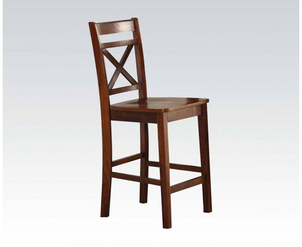 Tartys Casual Cherry Cream Wood Counter Height Chairs ACM-72537-BS-VAR