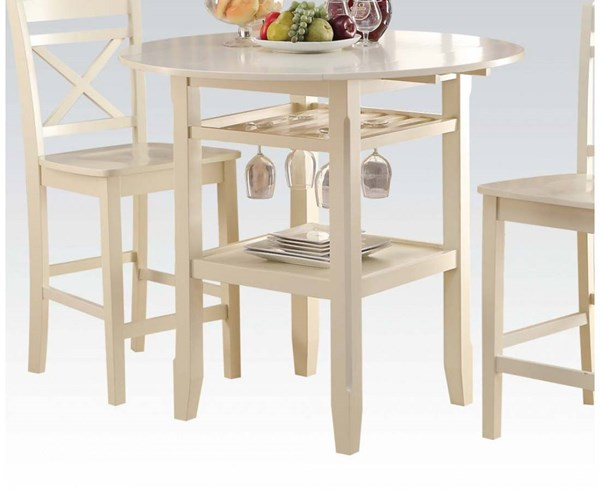 Tartys Casual Cream Wood Counter Height Table ACM-72545