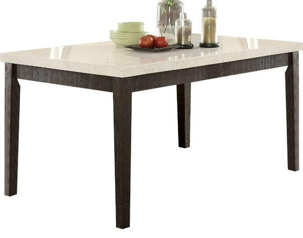Acme Furniture Nolan White Dark Oak Dining Table ACM-72850
